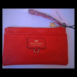 Red Juicy Couture wristlet/clutch/wallet nwt!